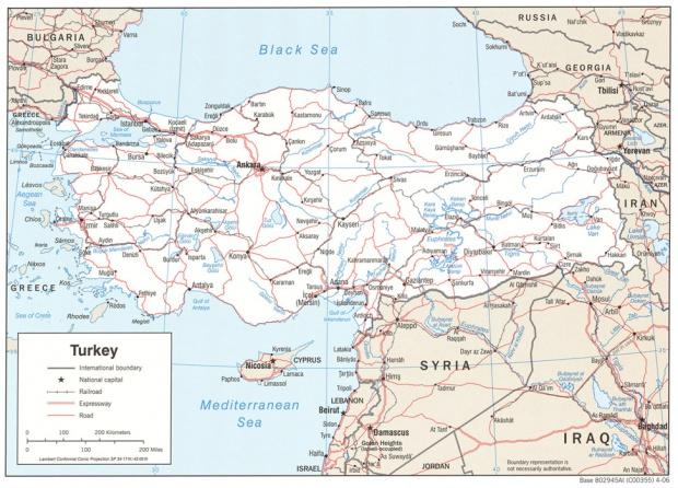 Mapa Politico de Turquía