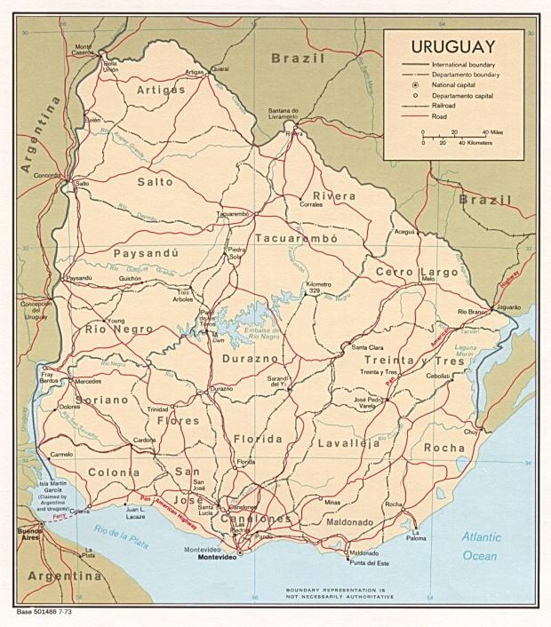 Mapa Político de Uruguay