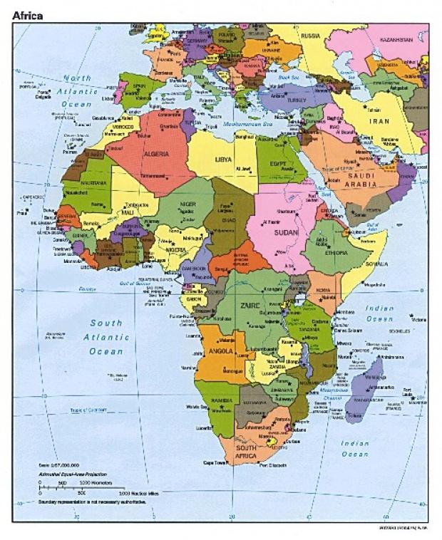 Mapa Politico de África