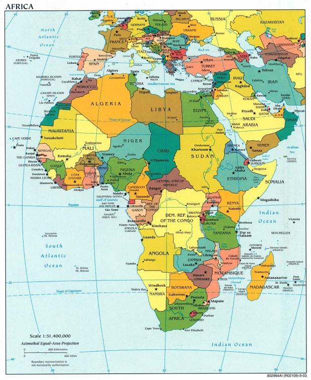 Mapa Politico de África 2003