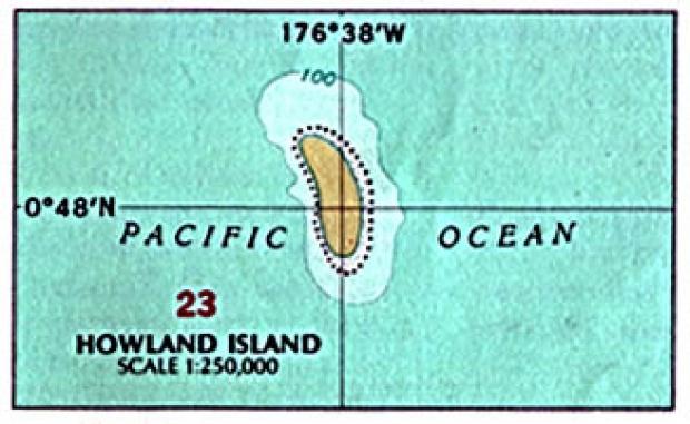 Mapa Politico de la Isla Howland, Estados Unidos