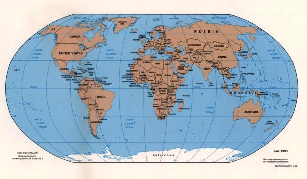 Mapa Politico del Mundo 1998