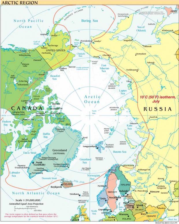 Mapa Politico del Ártico 1999