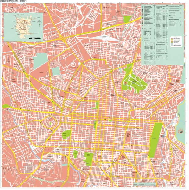 Mapa Puebla de Zaragoza, Puebla, Mexico