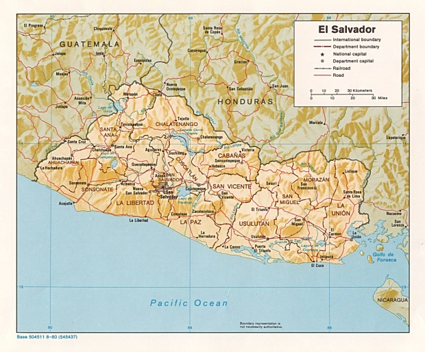 Mapa Relieve Sombreado de El Salvador