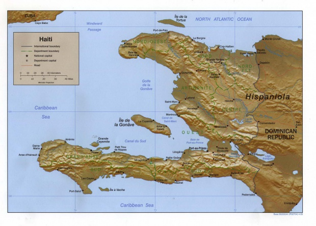 Mapa Relieve Sombreado de Haití