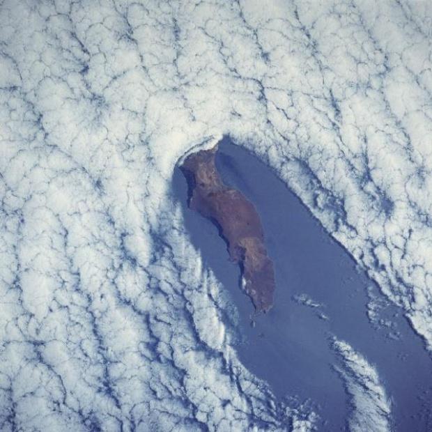 Mapa Satelial de la Isla Guadalupe, Mexico