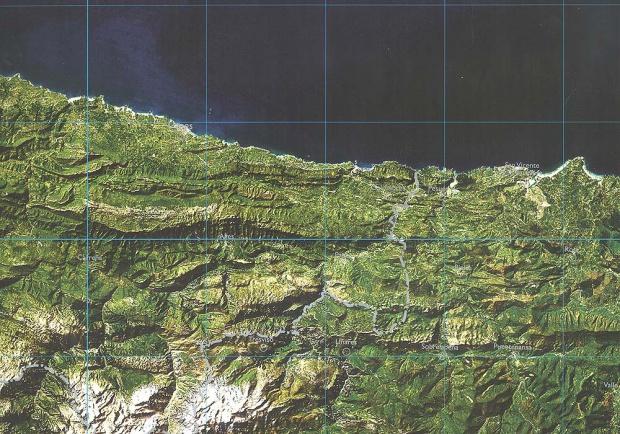 Mapa Satelital de Asturias