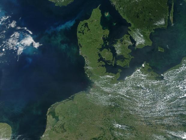 Mapa Satelital de Dinamarca
