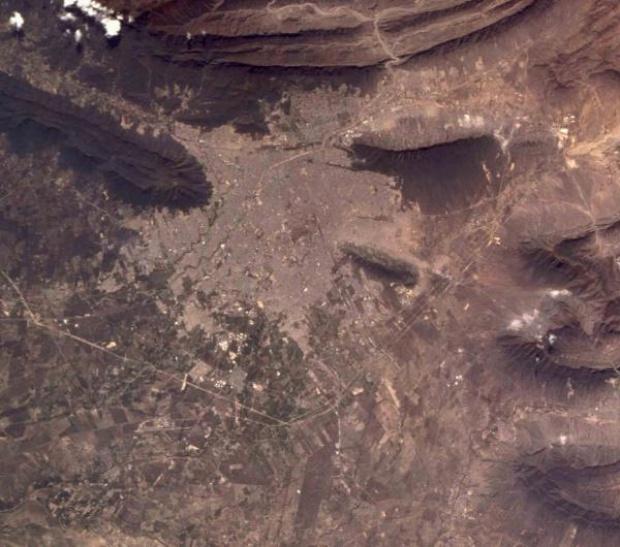 Mapa Satelital de Monterrey, Mexico