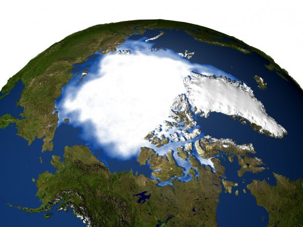 Mapa Satelital del Ártico