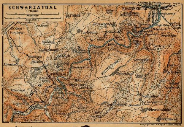 Mapa SchGuerraza-Tal, Alemania 1910