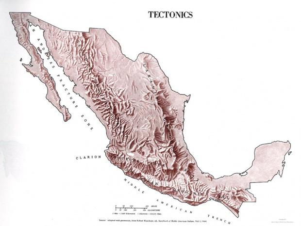 Mapa Tectónica de México