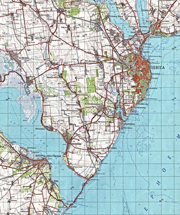 Mapa Topográfico de Odesa, Ucrania
