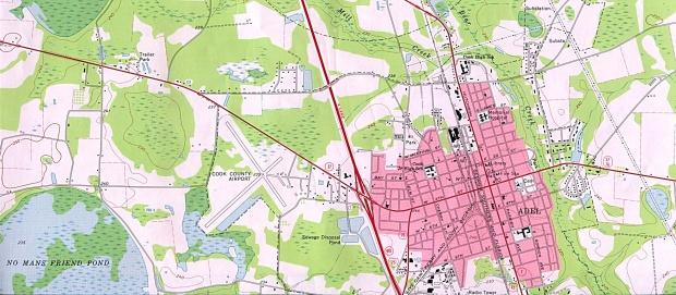 Mapa Topográfico de la Ciudad de Adel, Georgia, Estados Unidos