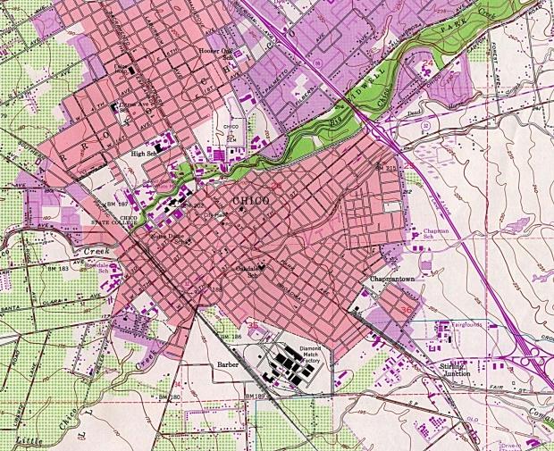 Mapa Topográfico de la Ciudad de Chico, California, Estados Unidos