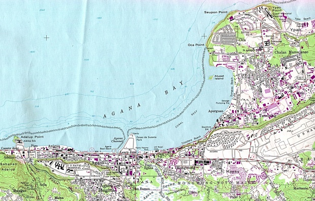 Mapa Topográfico de la Ciudad de Hagåtña