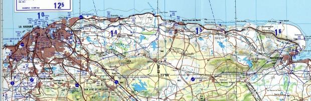 Mapa Topográfico de la Ciudad de La Havana, Cuba