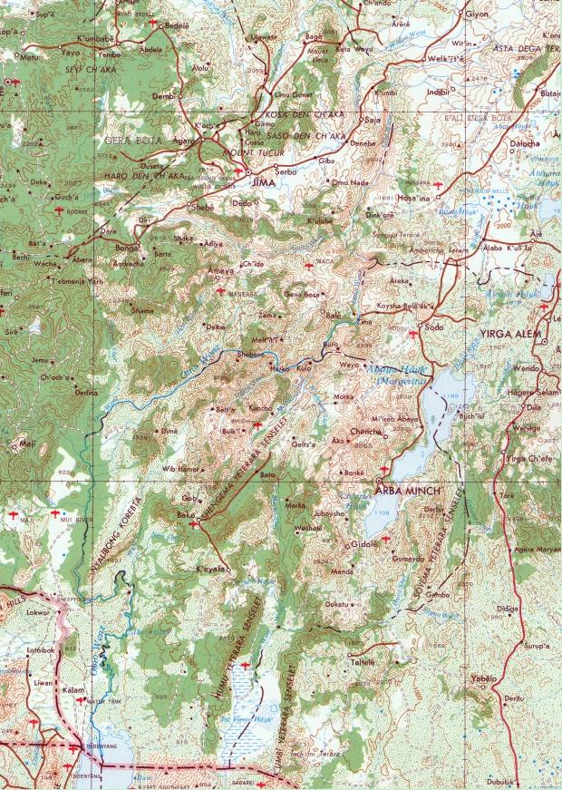 Mapa Topográfico de la Región Río Omo, Etiopía