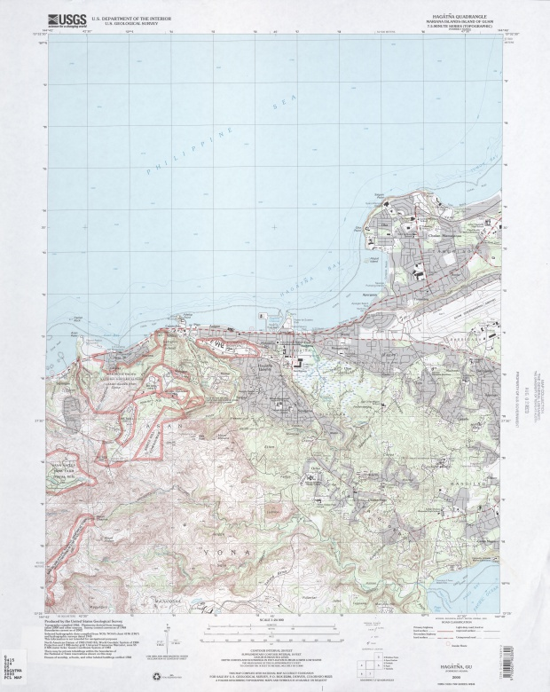 Mapa Topográfico de la Región de Hagåtña