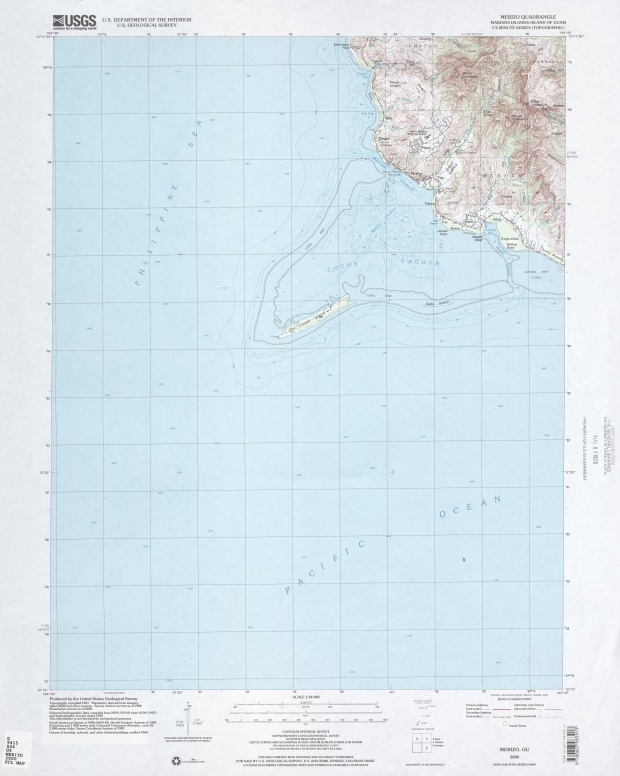 Mapa Topográfico de la Región de Merizo
