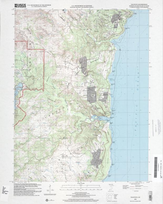 Mapa Topográfico de la Región de Talofofo