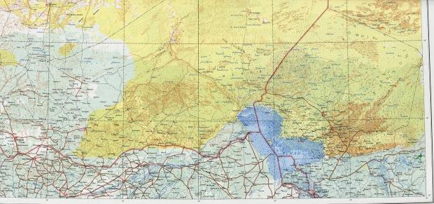 Mapa Topográfico de la Región del Lago Chad y de Níger Oriental