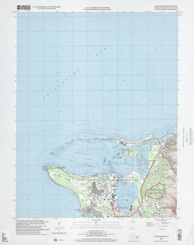 Mapa Topográfico del Puerto de Apra