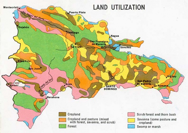 Mapa Utilización de la Tierra de República Dominicana