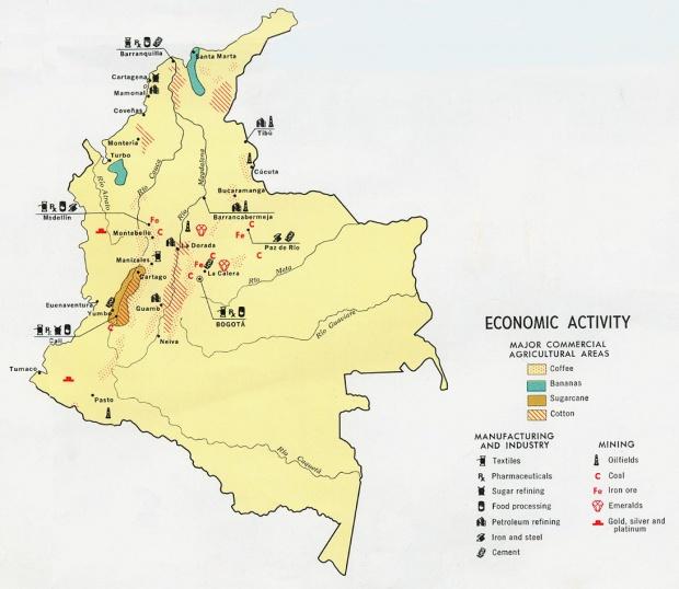 Mapa de Actividad Económica de Colombia