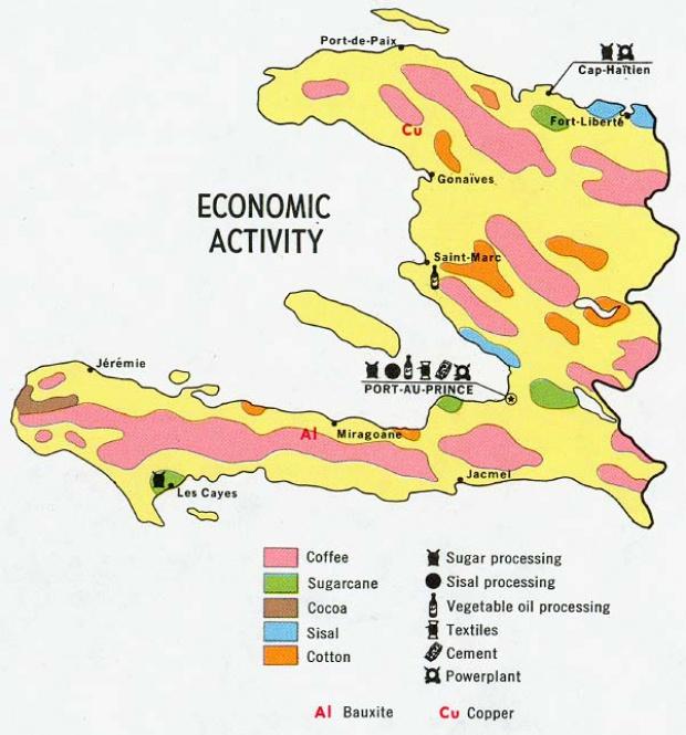 Mapa de Actividad Económica de Haití