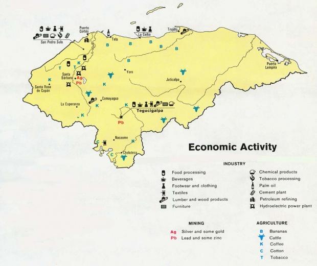 Mapa de Actividad Económica de Honduras