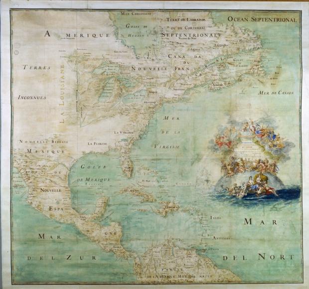 Mapa de América del Norte 1681