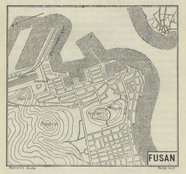 Mapa de Busán 1912