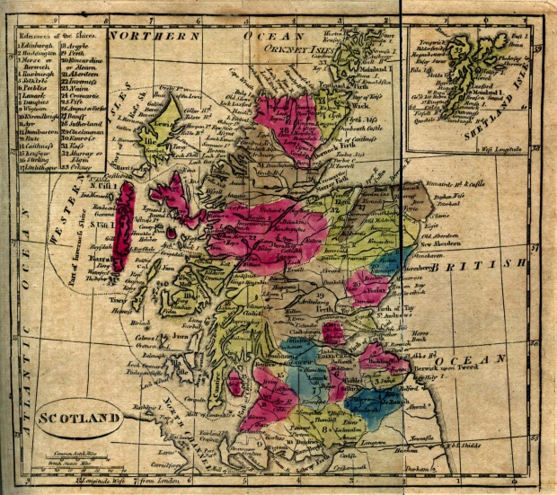 Mapa de Escocia 1808