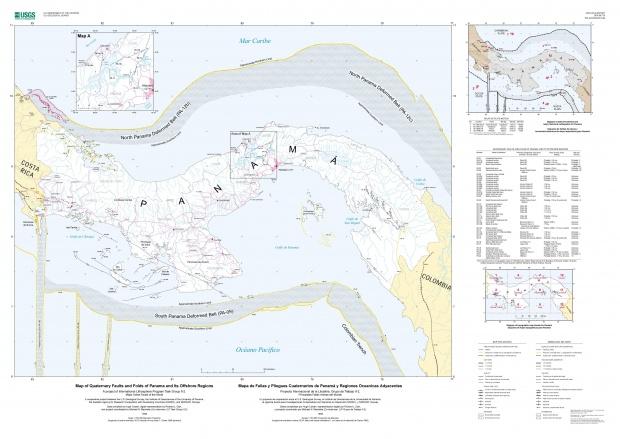 Mapa de Fallas y Pliegues Cuaternarios de Panamá