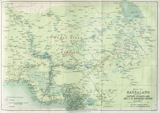 Mapa de Hausaland 1896