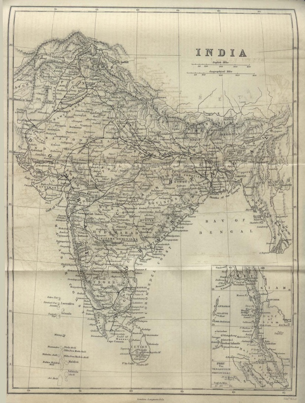 Mapa de India 1882
