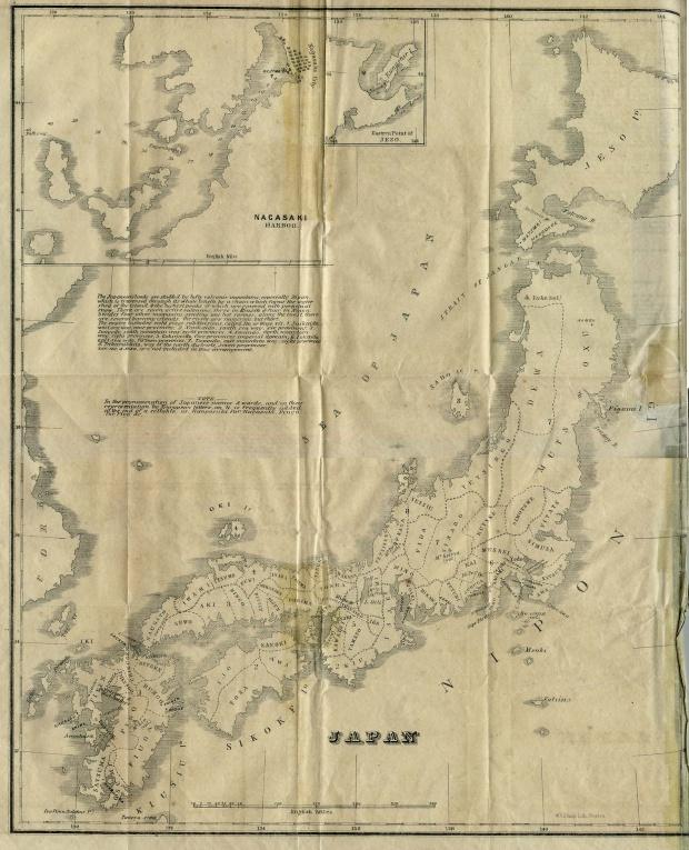 Mapa de Japón 1855