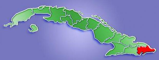 Mapa de Localización Provincia de Guantánamo, Cuba