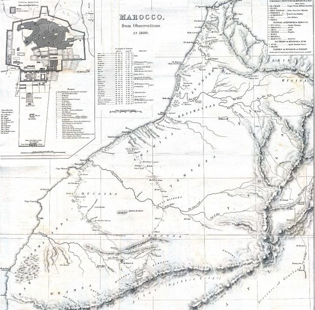 Mapa de Marruecos 1830