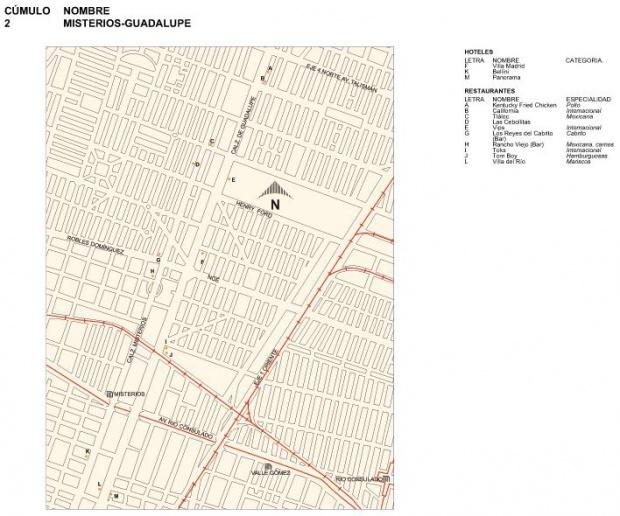 Mapa de Misterios-Guadalupe, Mexico D.F.
