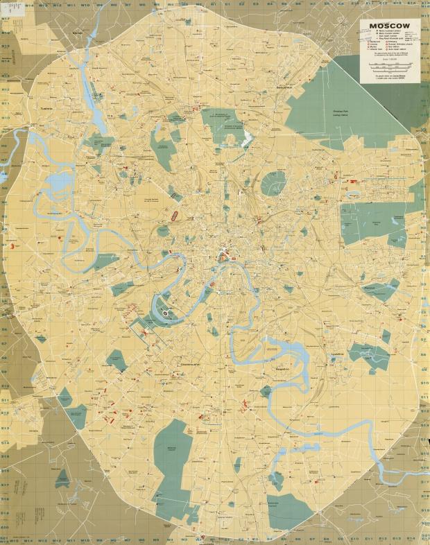 Mapa de Moscú