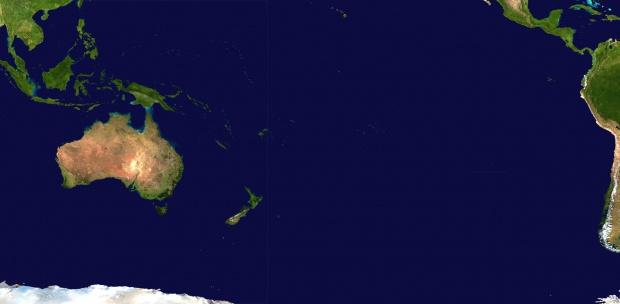 Mapa de Oceanía (satelital)