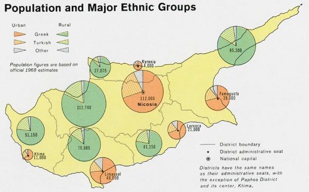 Mapa de Población de Chipre