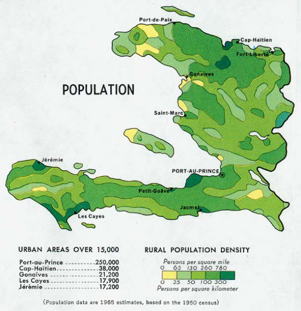 Mapa de Población de Haití