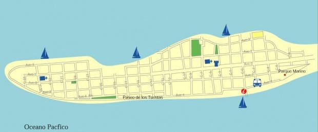 Mapa de Puntarenas, Costa Rica