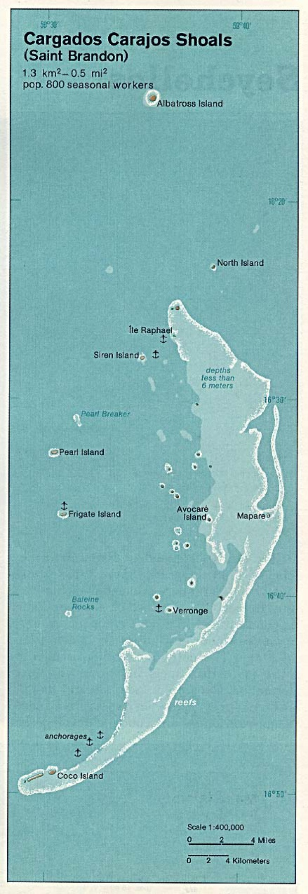 Mapa de Relieve Sombreado de Banco de Cargados Carajos (Saint Bryon Rocks), Mauricio