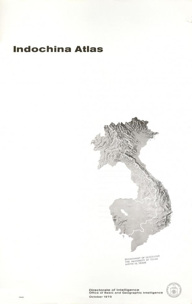 Mapa de Relieve Sombreado de Indochina