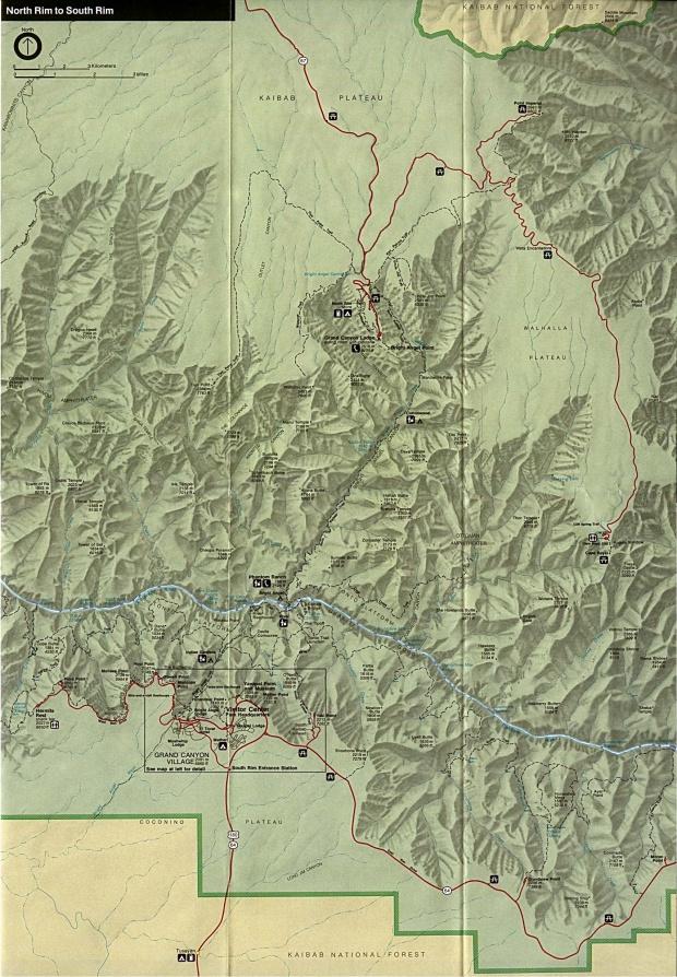 Mapa de Relieve Sombreado de la Región Oriental del Parque Nacionall Gran Cañón, Arizona, Estados Unidos